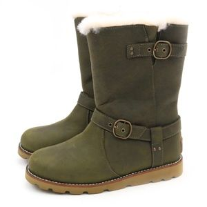 UGG NOIRA Pineneedle Waterproof Sheepskin Boots